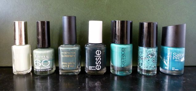 green nail polish collection.jpg