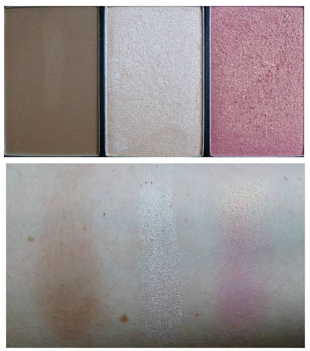 sleek faceform contouring palette swatches light