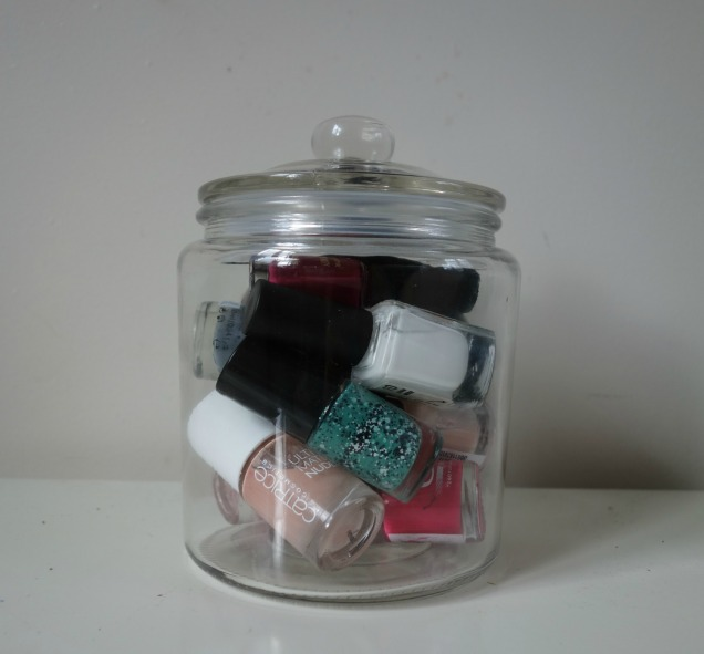 makeup storage nail polish storage