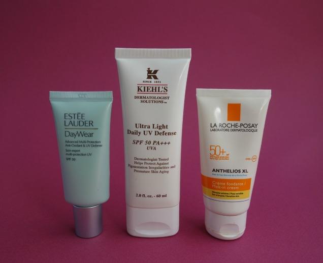Facial Sunscreen: Estee Lauder, kiehl's and la roche-posay