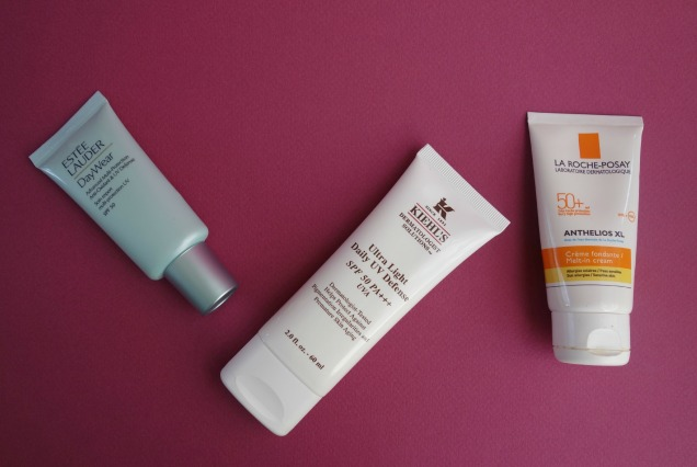 Facial Sunscreen: Estee Lauder, kiehl's and la roche-posay