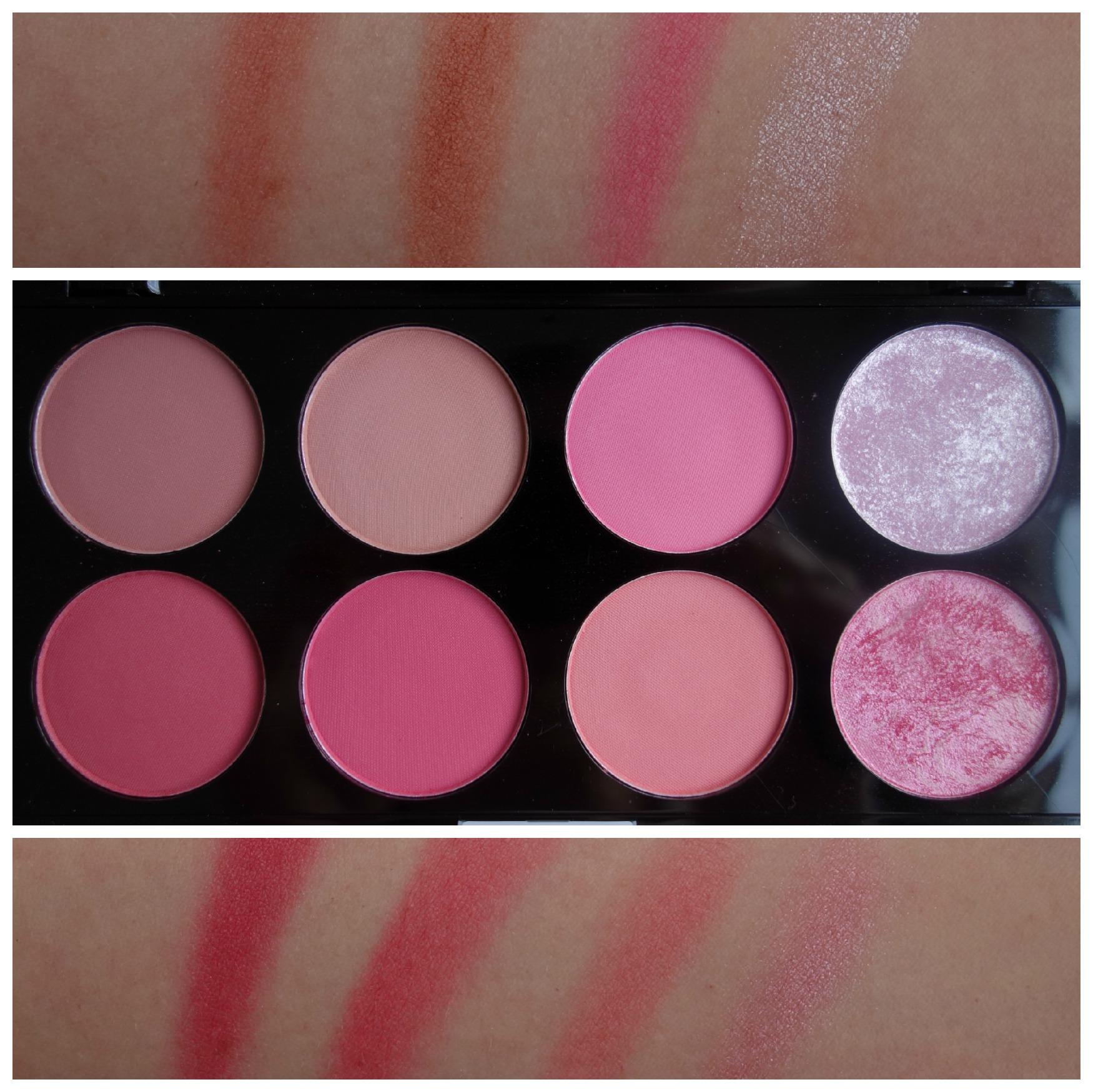 makeup revolution blush palette review hot e mugeek. Black Bedroom Furniture Sets. Home Design Ideas