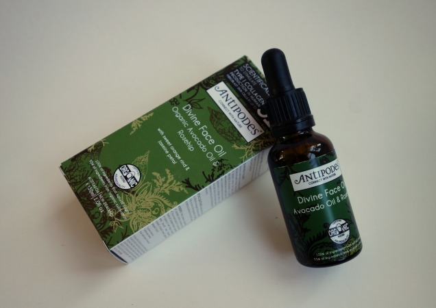 Organic Divine Face Oil by Antipodes with rosehip and avocado