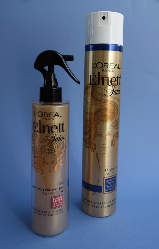 elnett loreal hair spray and heat protecting spray (2)