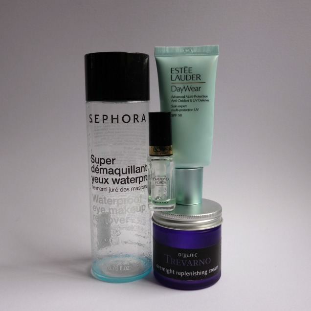 june empties with sephora, estee lauder, loreal and trevarno
