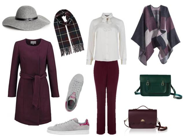 berry and burgundy fall fashion inspiration