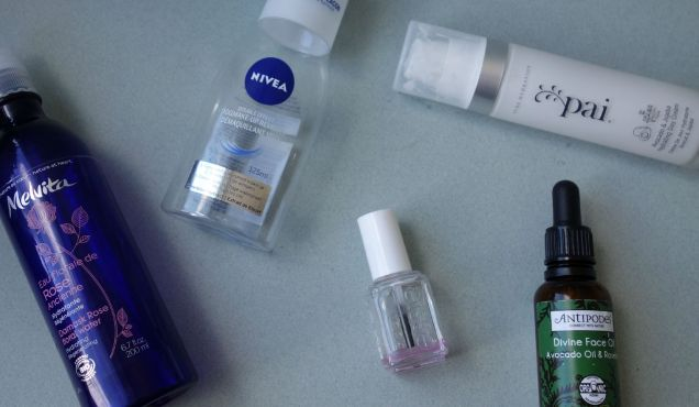 September Empties Antipodes Pai Melvita Essie nivea