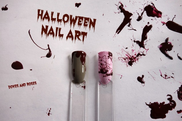 Halloween Nail Art Bloodspetter
