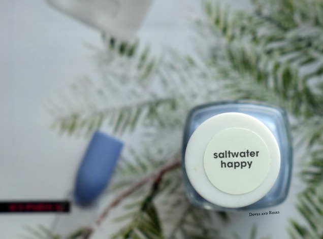 Essie Saltwater Happy Blue Nail polish swatch