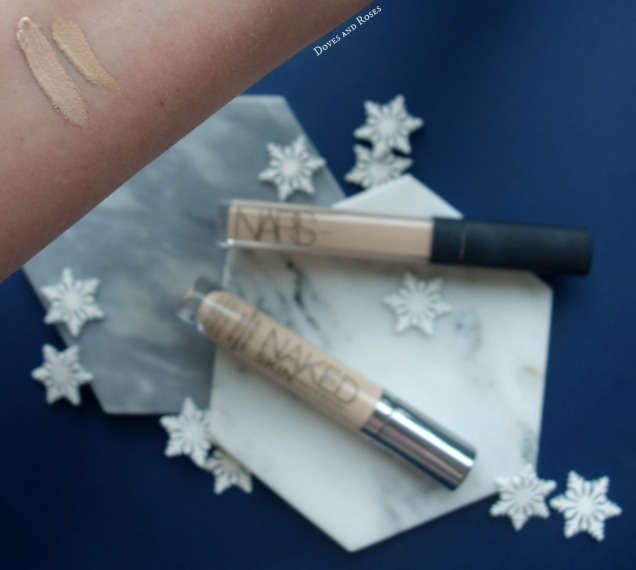 Urban Decay Naked Skin Concealer and nars radiant creamy concealer