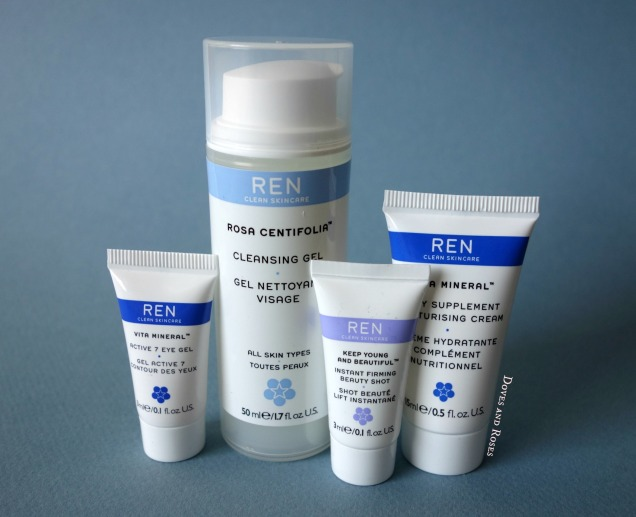 Ren skincare vita mineral eye gel moisturiser beauty shot cleansing gel