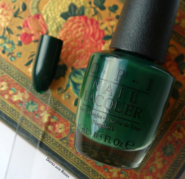 Opi Christmas Gone Plaid Dark Green Nail Polish Swatch