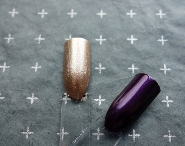 essence berry tale do you hear the jingle bells purple and golden metallic polish