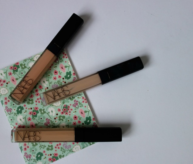 Three Shades of Nars Radiant Creamy Concealer Vanilla Honey Custard