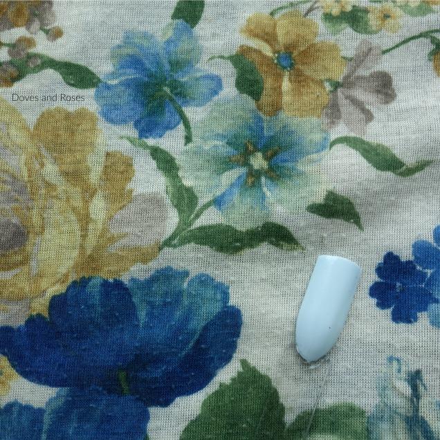 Essence NOTW Winter Wonderland nail polish light blue