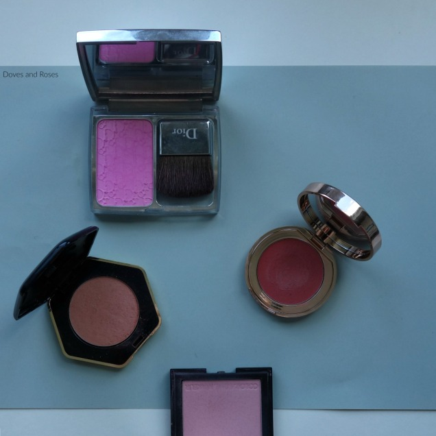 Favorite Spring Blush with Dior Rosy Glow Charlotte Tilbury H&M Pure Radiance and Zoeva Luxe colour Blush