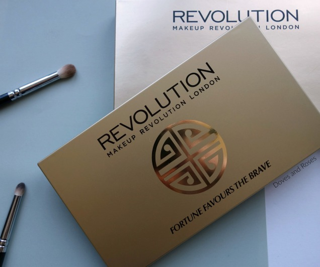 Makeup Revolution Fortune Favours the Brave eyeshadow palette with BritishBeautyBlogger