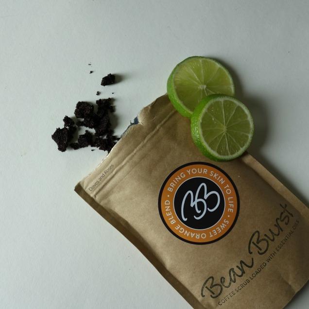 bean burst sweet orange blend natural scrub