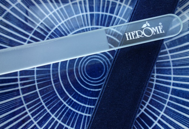 caring for weak nails with herome glass nail file