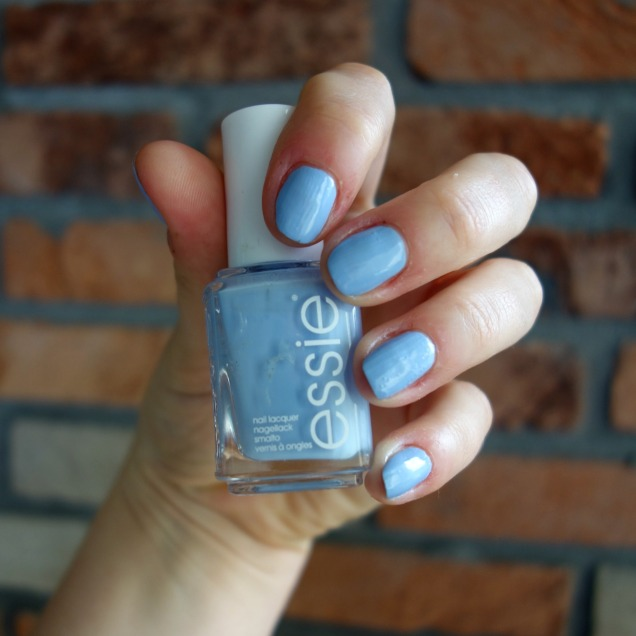 Essie Saltwater happy light blue nail polish